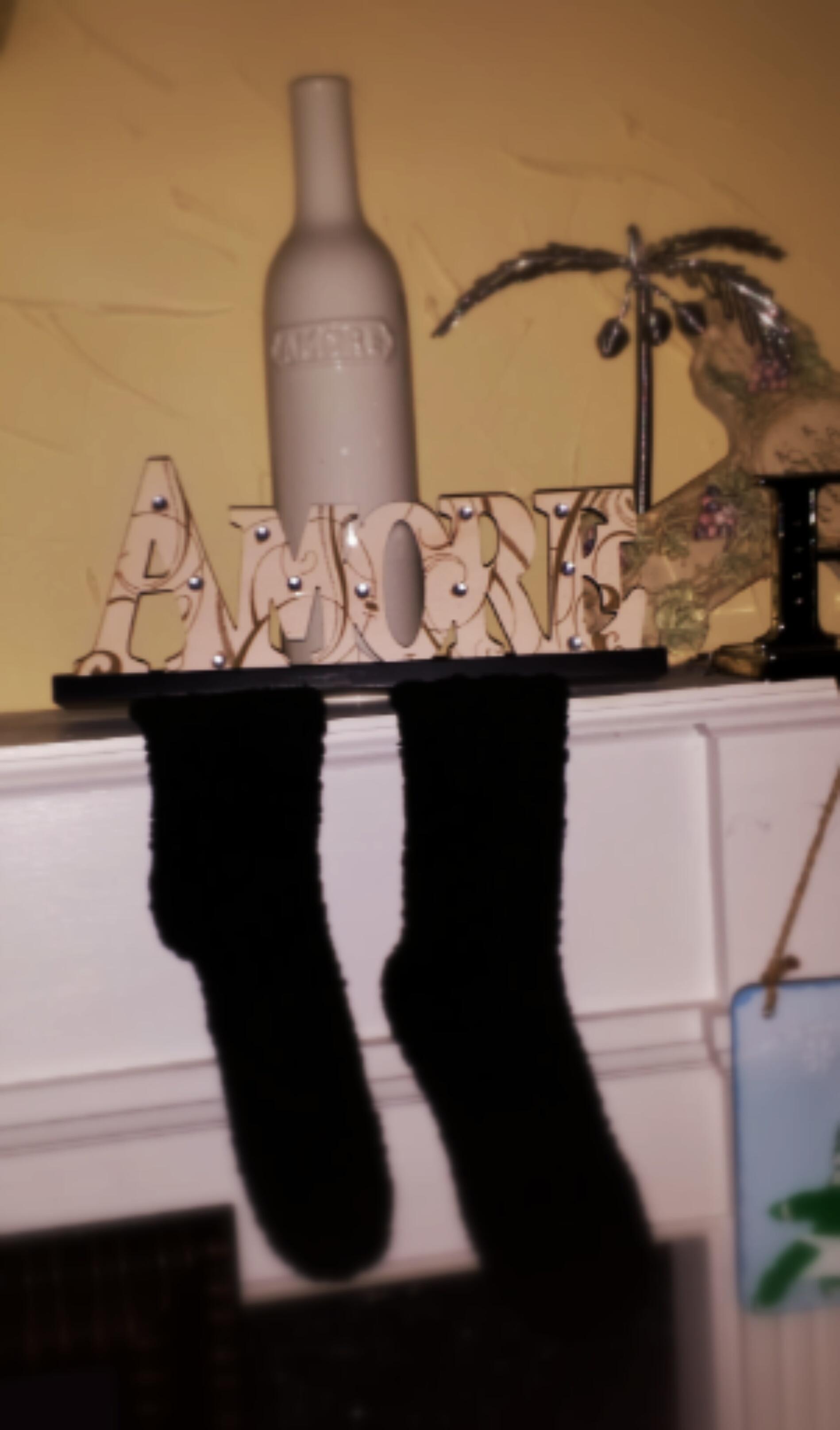 """Those Fuzzy Black """"Stockings""""…"""